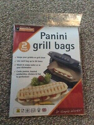 Toastabags Pack Of 2 Reusable Panini Grill Griddle Bags Toasted Sandwich Toastie • 1.99£