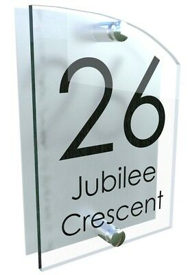 Contemporary House Sign Plaques Door Numbers  Personalised Acrylic Name Plate • 7.45£