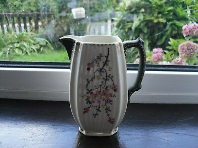 Antique Victorian Hand Painted Jug, Flowers With Gilding, Rd 171048 (1891/92)  • 6£