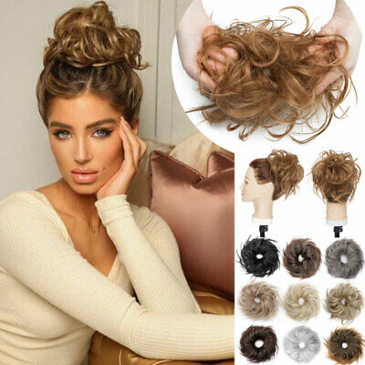 £8.50 • Buy UK Large Thick Messy Bun Hair Piece Scrunchie Updo Curly Hair Extensions Chignon