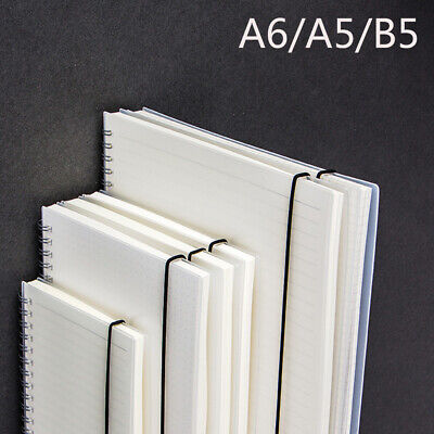 AU12.77 • Buy Diary Weekly Blank Notepad Planner Book Frosted Transparent Coil Notebook