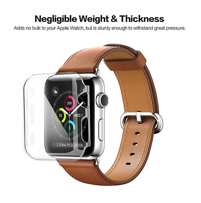 $ CDN8.82 • Buy For Apple Watch Series 2, 38mm FULL SCREEN Clear TPU Protector Cover
