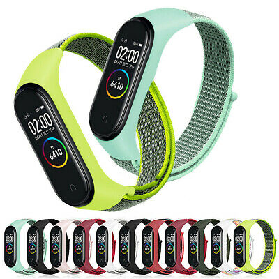 $2.05 • Buy For Xiaomi Mi Band 3 4 Cover Band Strap Nylon Loop Wristband &Case Replaceable F