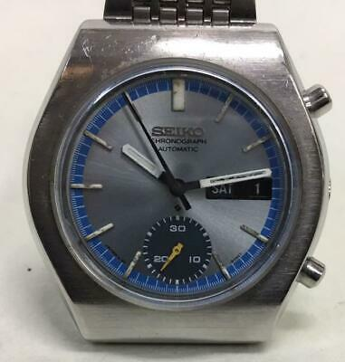 $ CDN479.62 • Buy Seiko 6139-8020 Vintage Chronograph Day Date SS Automatic Mens Watch Auth Works
