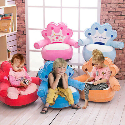 Plush Soft Kids Nursery Toddlers Chair Comfy Armchair Seat Children Sofa UK Sale • 24.99£