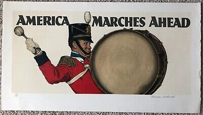 $ CDN3761.70 • Buy Norman Rockwell,  AMERICA MARCHES AHEAD  Limited Edition