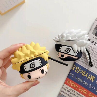 $ CDN6.29 • Buy For AirPods 2 1 Case 3D Cartoon NARUTO Kakashi Silicone Earphone Charging Cover