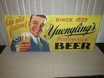 $102.50 • Buy Yuengling Beer Pottsville   An Old Friend  Tin Sign LARGE 39x17 SO COOL