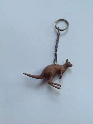 New Vintage Novelty Plastic Kangaroo Key Ring • 2.29£