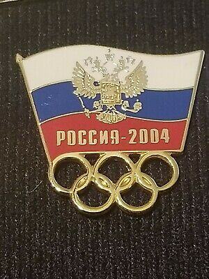 $24.99 • Buy Athens 2004 Olympic NOC Team Pin Russia Flag