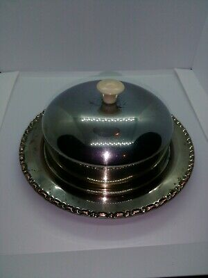 Vintage Round Metal Butter Dish With Glass Inner Dish. See Photos.  • 2.50£