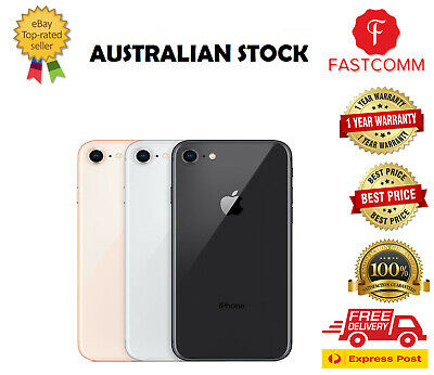 AU245 • Buy Apple IPhone 8 64GB 256GB Gold Silver Red Grey Unlocked - Good Condition