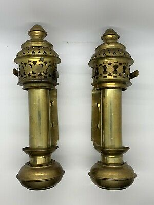 $74.99 • Buy Antique Brass Interpur Wall Mount Lamps Gothic Catholic Church Candle Fixture