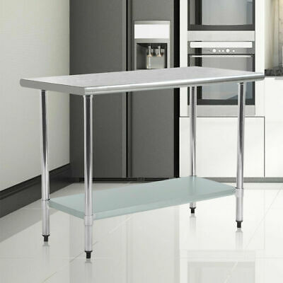 $11.69 • Buy 24  X 48  Stainless Steel Kitchen Work Table Commercial Restaurant Table 2448
