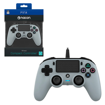 AU51.95 • Buy Nacon Silver Wired Compact Controller For PlayStation 4 PS4 NEW