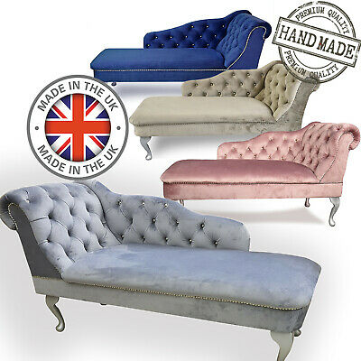 £169.99 • Buy Velvet Upholstered Tufted Button Chesterfield Chaise Lounge Bedroom Accent Chair