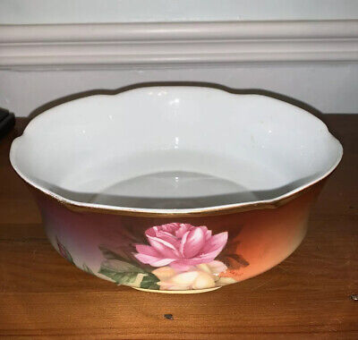 $14.80 • Buy Antique J & C LOUISE Bavaria SERVING BOWL Hand Painted Floral Signed