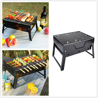 $22.89 • Buy Portable Tabletop Charcoal Grill BBQ Camping Picnic Cooker Air Vent Outdoor USA
