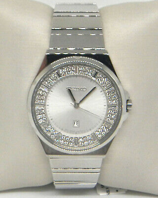 $ CDN91.25 • Buy Seiko Womens Crystal-set Dial Stainless Steel Quartz Watch Sxdf71