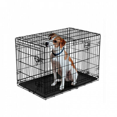 £62.51 • Buy Vibrant Life Double-Door Folding Dog Crate With Divider. More Sizes!