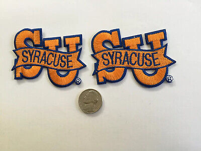 $9.99 • Buy (2) SU SYRACUSE UNIVERSITY Vintage  Embroidered Iron  On Patches Lot 2.75 X 2""