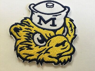$6.59 • Buy The University Of Michigan Wolverines Vintage Embroidered Iron On Patch 3 X 2.75