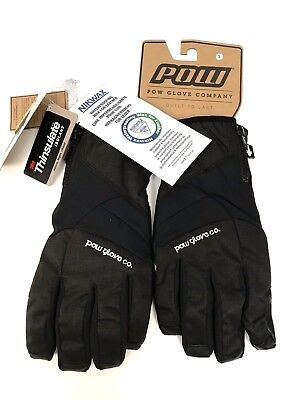 $42 • Buy POW GLOVES Snowboard Ski Waterproof Winter Men's Small Pitch NWT