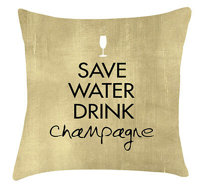£22.99 • Buy Save Water Drink Champagne Cushion