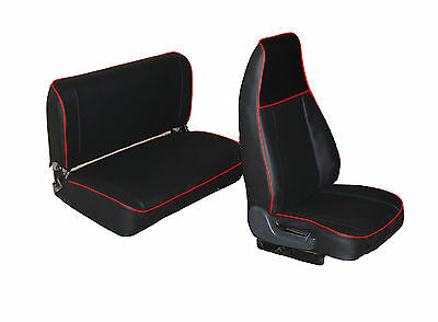 Liners Seats Car Tailored Jeep Wrangler Yj, Tj - Leatherette Black • 225.32£