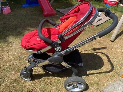 ICandy Peach 2 Red Tomato Pushchair, Carrycot, Parasol And Car Seat Adapters • 150£