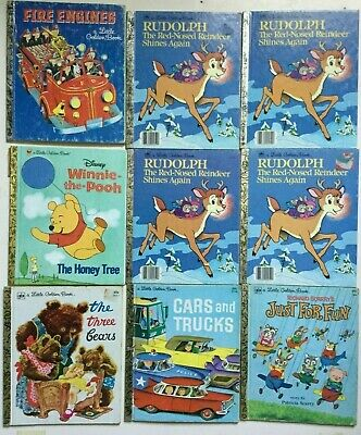 $9 • Buy First Little Golden Books Vintage Disney Lot Of 9 Books Classic Childrens Story