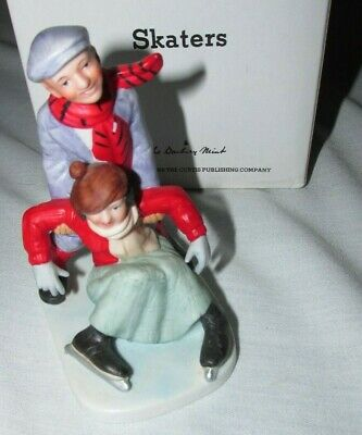 $ CDN10.46 • Buy Norman Rockwell Danbury Mint Porcelain Figurine Statue   Skaters  A20
