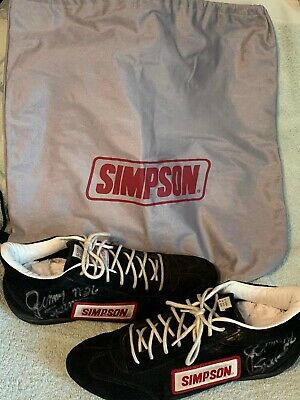 $49.99 • Buy Very Rare Race Worn And Autographed Jimmy Spencer Simpson Driving Shoes And Bag