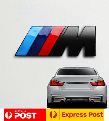 AU9.99 • Buy 1x Black M Power Bmw Logo Badge Boot Sticker M2 M3 M4 M5 M6 325 328 330 Sport