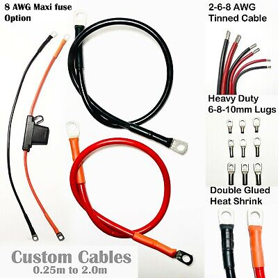 AU25.69 • Buy Battery Cable Lead Wire Car Marine Inverter RV Solar 2 AWG 6 AWG 8 AWG 0.25 - 2m