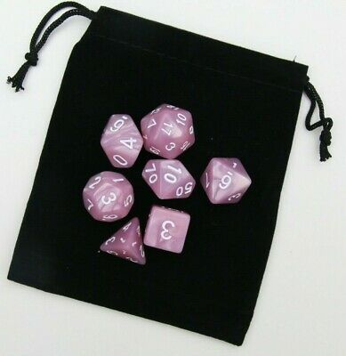 AU8.98 • Buy Dice  Set Dungeons & Dragons Polyhedral Dnd 7 Piece Pearl Dice RPG Pathfinder