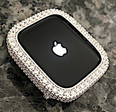 $ CDN79.85 • Buy 38mm Silver Lab Diamond Apple Watch Bezel Case Cover Metal Iwatch Series 2/3