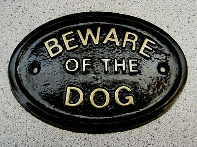 £2.95 • Buy BEWARE OF THE DOG DOGS - HOUSE DOOR PLAQUE SIGN GATE (Gold Or Silver Lettering)
