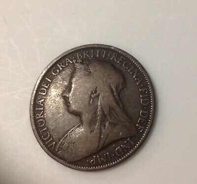 $6 • Buy British Large Bronze One  Penny Coin 1896  Queen Victoria Great Britain