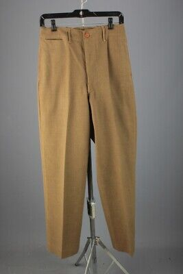 Men's 1940s WWII US Army Wool Pants 28x32 40s WW2 Vtg Trousers • 32.91£