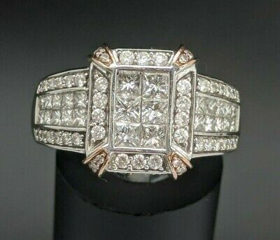 $975 • Buy 14k White Gold 2.25ctw Diamond Statement Cocktail Engagement Ring D06