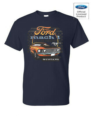 $15.99 • Buy Ford Mach 1 Mustang Licensed Front Design Tee T-Shirt New
