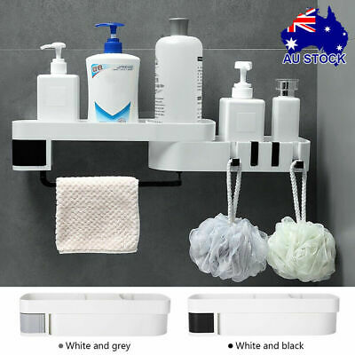 AU20.99 • Buy Shower Caddy Corner Storage Shelf Holder Rack Organiser Bathroom Adhesive Tripod