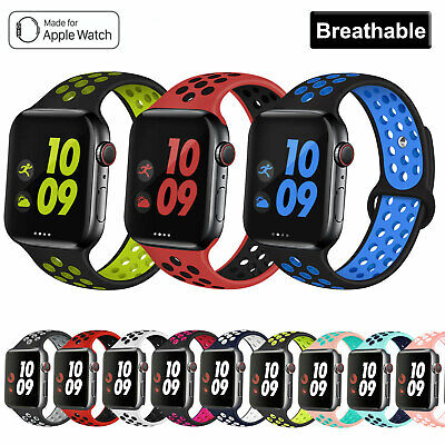 AU8.89 • Buy For Apple Watch Band Series 5/4/3/2/1 Sport Silicone IWatch Strap 38 42 40 44mm
