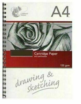 A4 Sketch Book Drawing Pad Spiral White Cartridge Paper 135 Gsm Art Home School • 3.99£