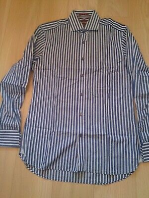 Mens Smart Sartorial Shirt By M&S Slim Fit 15  Collar Double Cuffs • 12£