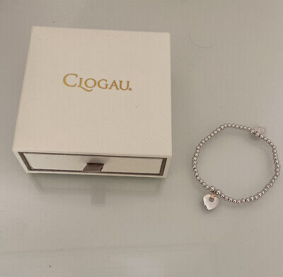 Clogau Gold Silver & Rose Gold Cariad Affinity Bead Bracelet 16-16.5cm RRP £89 • 49£