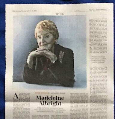 $3.95 • Buy Iconic Wall Street Journal Article MADELEINE ALBRIGHT 2020 Conversation Piece