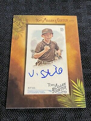 $0.99 • Buy 2019 Topps Allen & Ginter VINCENT STIO Small Frame Auto