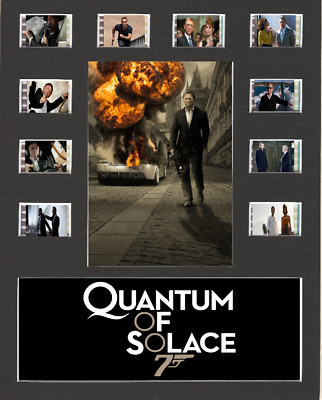 Quantum Of Solace 007 Movie Replica Film Cell Presentation 10x8 Mounted 10 Cells • 23.49£